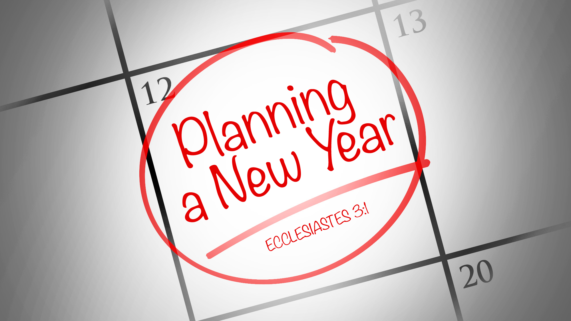 Planning a New Year